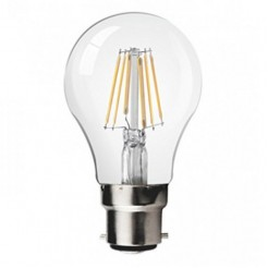 QUALEDY LED B22-Filament lamp 8W 2700K 850Lm Dimbaar